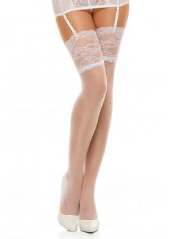 Фини бели 7/8 чорапи Romance white