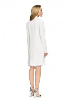 Елегантно дамско сако в цвят екрю