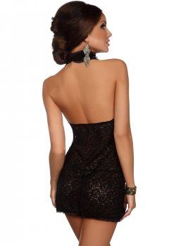 Черна дантелена рокля Lavanya