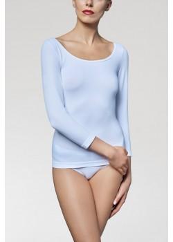 Дамска блуза с 3/4 ръкав в бял цвят