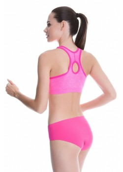 Спортно бюстие в розов цвят