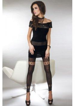 Секси черна рокля Diamond Lust