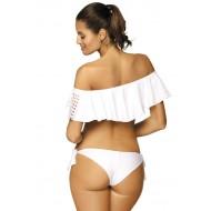 Бански костюм от две части в бяло Carrie M-466-1