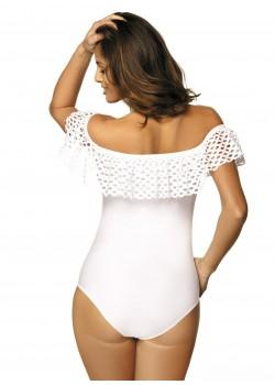 Цял бански костюм в бяло Sonia M-459-1