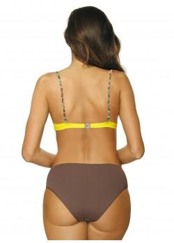 Бански костюм от две части в жълто Yasmine M-493-3