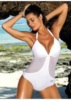 Цял бански костюм в бяло Priscilla M-428-6