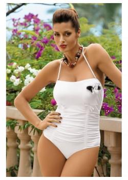 Цял бански костюм в бяло Shila M-202-194