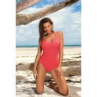Цял бански костюм в цвят корал Gabrielle M-543-12