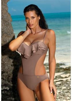 Цял бански костюм в цвят мока Belinda M-548-12