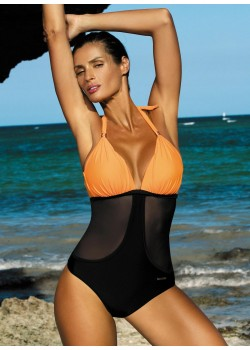 Цял бански костюм в оранжево Priscilla M-428-5