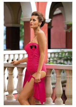 Цял бански костюм в розово Shila M-202-195