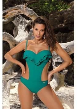 Цял бански костюм в смарагдово зелен цвят Belinda M-548-6