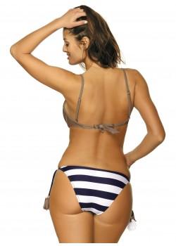 Бански костюм от две части в цвят мока Andrea M-447-4