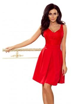 Официална червена рокля 208-2