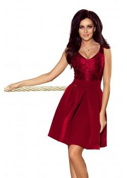 Официална рокля в цвят бордо 208-3