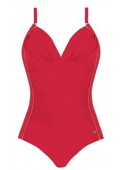 Цял бански костюм в червен цвят S1026ZL 6