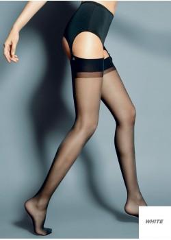 Дамски дълги чорапи в бял цвят Calze Bianco 15 DEN