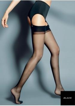 Дамски дълги чорапи в черен цвят Calze Nero 15 DEN