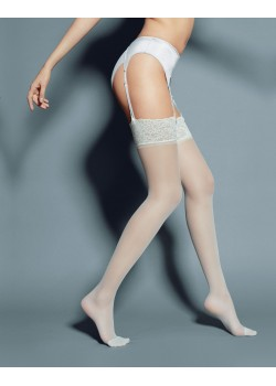 Дамски дълги чорапи в цвят крем Calze Mary Panna 20 DEN