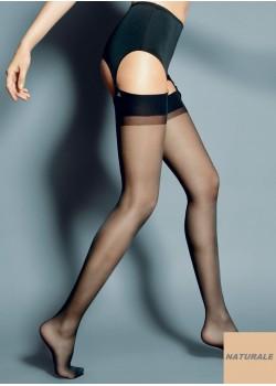 Дамски дълги чорапи в телесен цвят Calze Naturale 15 DEN