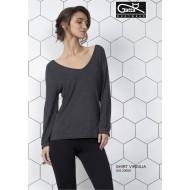 Дамска блуза с дълъг ръкав в сиво VIRGILIA