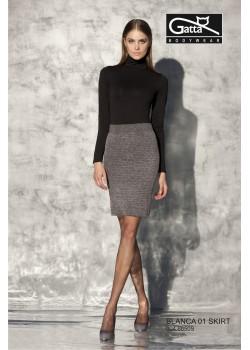 Дамска пола с висока талия в черно