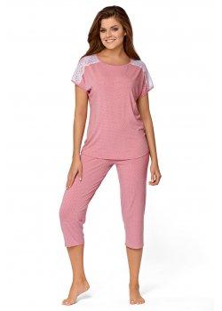 Дамска пижама в пастелно розов цвят Anna