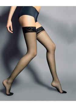 Дамски дълги чорапи в черен цвят Silvi Nero 15 DEN