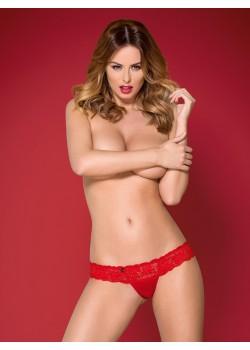 Дамски прашки в червен цвят Obsessive 863-THO-3