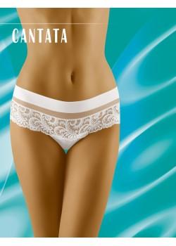 Дантелени бикини в бяло Cantata