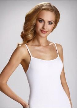 Памучен дамски потник в бял цвят Catherine