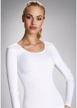Памучна блуза в бял цвят в макси размери Irene