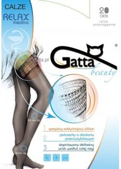 Релаксиращи дамски дълги чорапи в черно Calze Nero