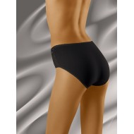 Гладки бикини с дантела в черен цвят Eco-Za