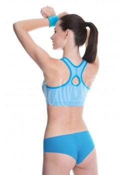 Спортно бюстие в син цвят