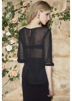 Дамска блуза в черен цвят Cati
