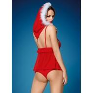 Дамски червен костюм от три части 851-CST-3