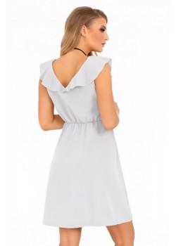 Елегантна рокля Annag в сив цвят