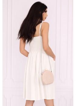 Ежедневна рокля в бял цвят Akminas