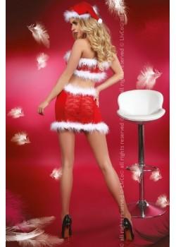 Секси коледен костюм от четири части Christmas Lust