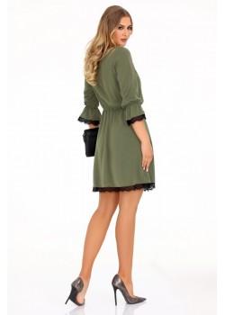Ежедневна рокля Shanice в цвят каки