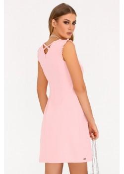 Елегантна рокля Kerrien в цвят пудра