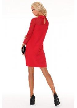 Елегантна къса рокля с яка Tamari