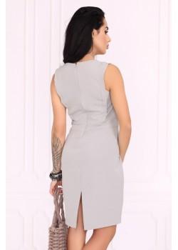 Елегантна рокля Viran в сив цвят