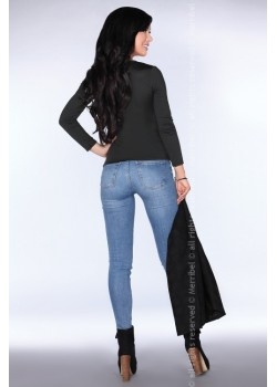 Елегантна дамска блуза в черно CG011