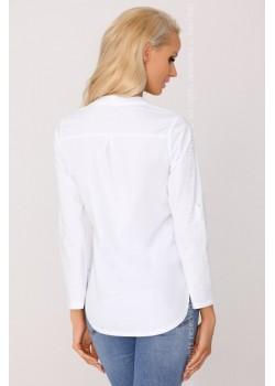 Дамска риза в бял цвят