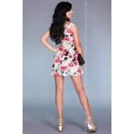 Ежедневна мини рокля във флорален мотив