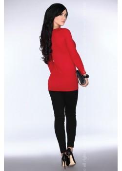 Дамска туника в червен цвят CG025