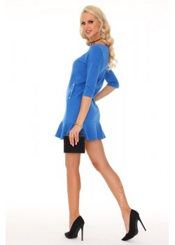 Ежедневна къса рокля в син цвят Marima