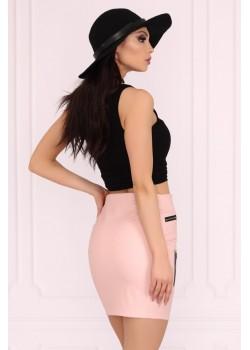 Дамска пола в цвят пудра Pearliema